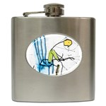 olp sit stick man Hip Flask (6 oz)