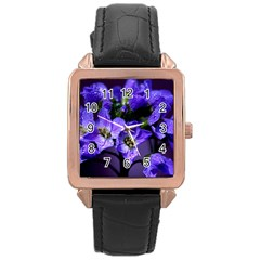 Cuckoo Flower Rose Gold Leather Watch