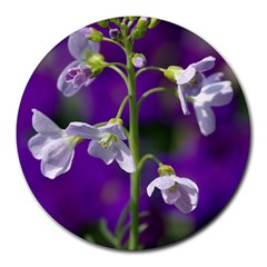Cuckoo Flower 8  Mouse Pad (round) by Siebenhuehner