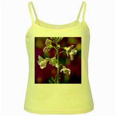 Cuckoo Flower Yellow Spaghetti Tank