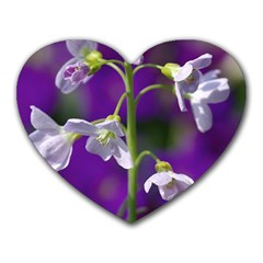 Cuckoo Flower Mouse Pad (heart) by Siebenhuehner