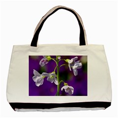 Cuckoo Flower Twin Sided Black Tote Bag by Siebenhuehner