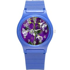 Cuckoo Flower Plastic Sport Watch (small) by Siebenhuehner