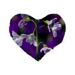 Cuckoo Flower 16  Premium Heart Shape Cushion  by Siebenhuehner