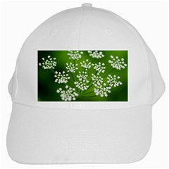 Queen Anne s Lace White Baseball Cap