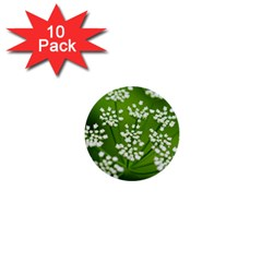 Queen Anne s Lace 1  Mini Button (10 Pack)