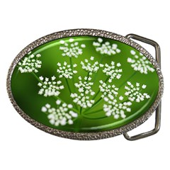 Queen Anne s Lace Belt Buckle (oval)