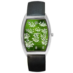 Queen Anne s Lace Tonneau Leather Watch