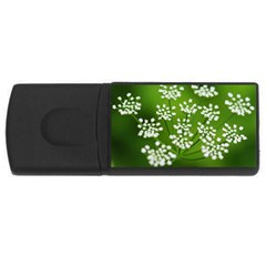 Queen Anne s Lace 4gb Usb Flash Drive (rectangle) by Siebenhuehner