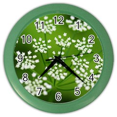 Queen Anne s Lace Wall Clock (color) by Siebenhuehner