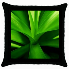 Yucca Palm  Black Throw Pillow Case by Siebenhuehner
