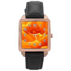 Rose Rose Gold Leather Watch