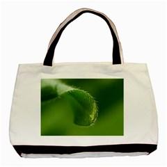 Leaf Twin Sided Black Tote Bag by Siebenhuehner