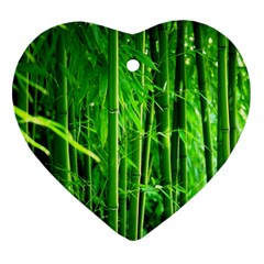 Bamboo Heart Ornament (two Sides) by Siebenhuehner