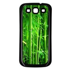 Bamboo Samsung Galaxy S3 Back Case (black) by Siebenhuehner