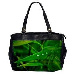 Bamboo Leaf With Drops Oversize Office Handbag (one Side) by Siebenhuehner
