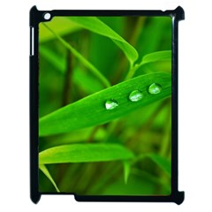 Bamboo Leaf With Drops Apple Ipad 2 Case (black) by Siebenhuehner