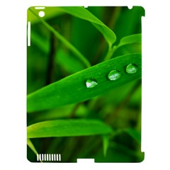 Bamboo Leaf With Drops Apple Ipad 3/4 Hardshell Case (compatible With Smart Cover) by Siebenhuehner