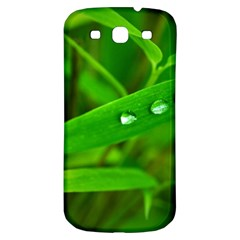 Bamboo Leaf With Drops Samsung Galaxy S3 S Iii Classic Hardshell Back Case by Siebenhuehner