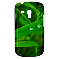 Bamboo Leaf With Drops Samsung Galaxy S3 Mini I8190 Hardshell Case by Siebenhuehner