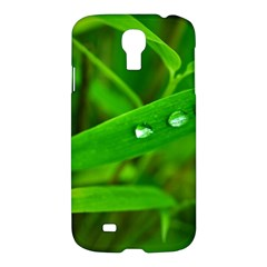 Bamboo Leaf With Drops Samsung Galaxy S4 I9500/i9505 Hardshell Case by Siebenhuehner