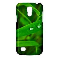 Bamboo Leaf With Drops Samsung Galaxy S4 Mini Hardshell Case  by Siebenhuehner