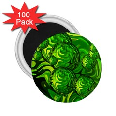 Green Balls  2 25  Button Magnet (100 Pack) by Siebenhuehner