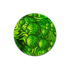 Green Balls  Magnet 3  (round) by Siebenhuehner