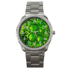 Green Balls  Sport Metal Watch by Siebenhuehner