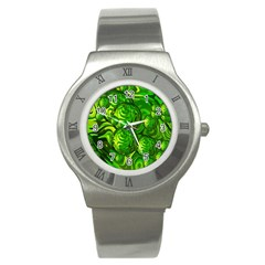 Green Balls  Stainless Steel Watch (unisex) by Siebenhuehner