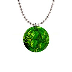Green Balls  Button Necklace by Siebenhuehner
