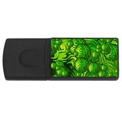 Green Balls  4gb Usb Flash Drive (rectangle) by Siebenhuehner