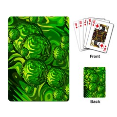 Green Balls  Playing Cards Single Design by Siebenhuehner