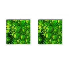 Green Balls  Cufflinks (square) by Siebenhuehner