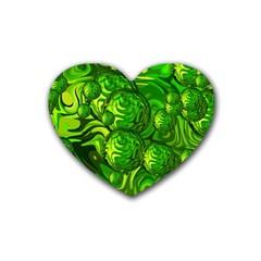 Green Balls  Drink Coasters 4 Pack (heart)  by Siebenhuehner