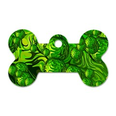 Green Balls  Dog Tag Bone (two Sided)