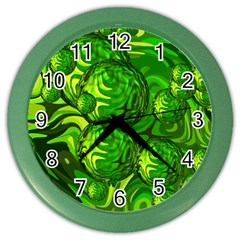 Green Balls  Wall Clock (color) by Siebenhuehner
