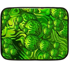 Green Balls  Mini Fleece Blanket (two Sided) by Siebenhuehner