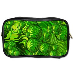 Green Balls  Travel Toiletry Bag (two Sides) by Siebenhuehner