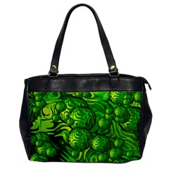 Green Balls  Oversize Office Handbag (one Side) by Siebenhuehner