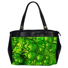 Green Balls  Oversize Office Handbag (two Sides) by Siebenhuehner