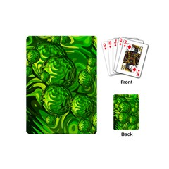 Green Balls  Playing Cards (mini) by Siebenhuehner