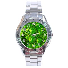 Green Balls  Stainless Steel Watch (men s) by Siebenhuehner