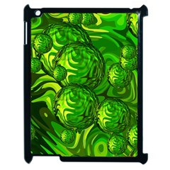 Green Balls  Apple Ipad 2 Case (black) by Siebenhuehner