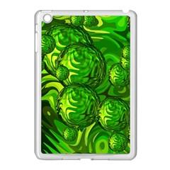 Green Balls  Apple Ipad Mini Case (white) by Siebenhuehner