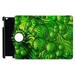 Green Balls  Apple Ipad 3/4 Flip 360 Case by Siebenhuehner
