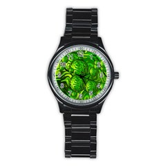 Green Balls  Sport Metal Watch (black) by Siebenhuehner
