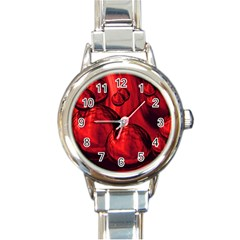 Red Bubbles Round Italian Charm Watch by Siebenhuehner
