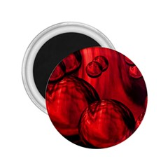 Red Bubbles 2 25  Button Magnet by Siebenhuehner