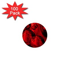 Red Bubbles 1  Mini Button (100 Pack) by Siebenhuehner